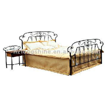 F681B Victorian Cast Iron Full Size Bed - American Antiques at