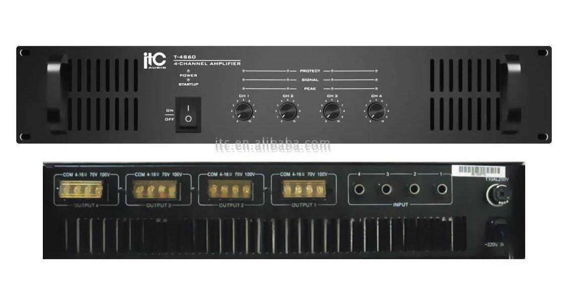 PA 4-Channel Power Amplifier (PA 4-Kanal-Endstufe)