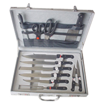 13pc Knife Set in Aluminum Case