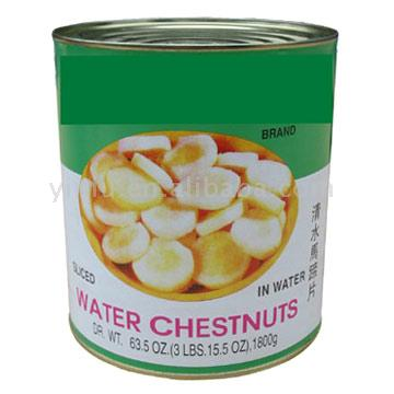 Waterchestnuts, chinese, canned, solids and liquids