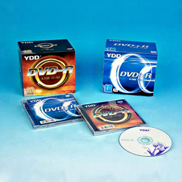 Printed DVD+/-R in 10.4mm Plastic Case Packs