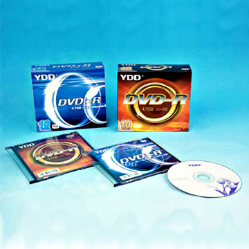 Printed DVD+/-R in 5.2mm Plastic Case Packs