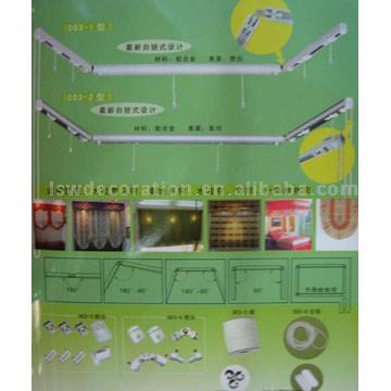 Auto-Locking Roman Curtain Rail