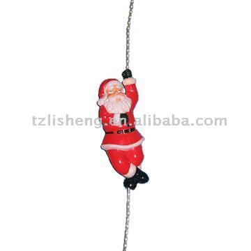 120 in. 3-Car Santa on Train Animated Rope Light Yard Art Display