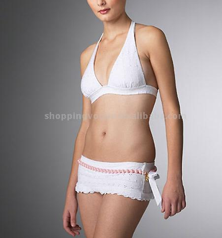 New Fashion Eyelet White Bikini (Pearls) (Новая мода Проушина Белый Бикини (жемчуг))