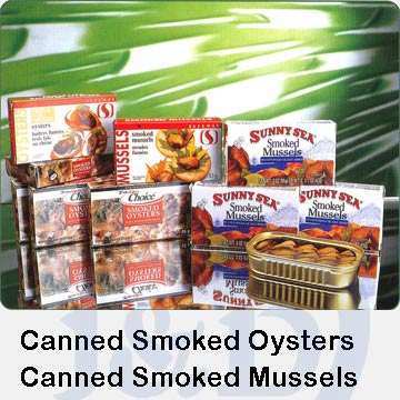 Canned Smoked Oysters/Mussels