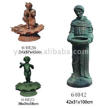 Cast Iron Antique Statues