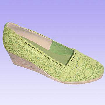 Wedge Style Casual Shoes for Women with Crochet Upper ( Wedge Style