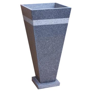 Grey High Tapered Pot With Base (Серые Высокие конические горшка с базой)