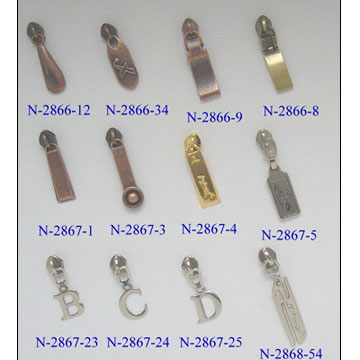 Zippers and Sliders (Молнии и ползунки)