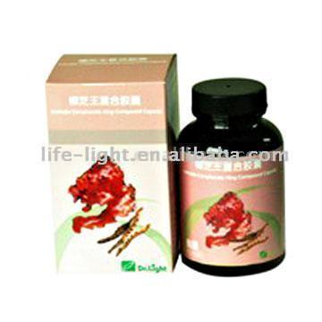 Antrodia Camphorate King Compound Capsule (Antrodia Camphorate короля Подворье Capsule)