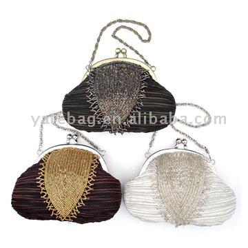 Beaded Handbags on Features 1  With Glass Beads Decorated2  Material  Satin  Glass Beads