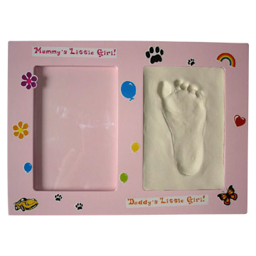 Baby Handprint And Footprint Clay Photo Frame
