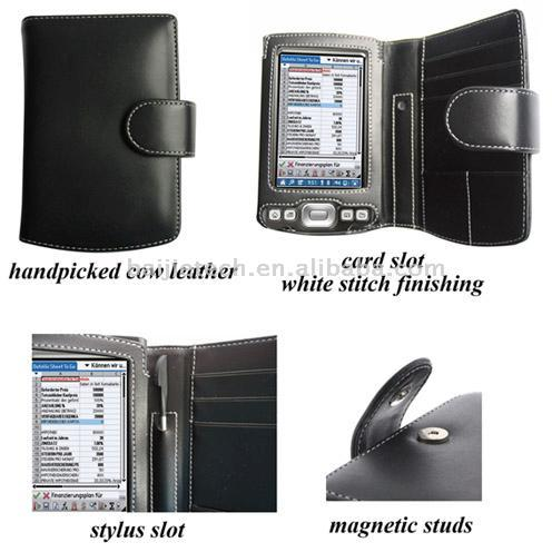 PDA Leather Case for Palm Tungsten T5/TX - Book Type (Black) (КПК Кожаный чехол для Palm Tungsten T5/TX - Book Type (Bl k))