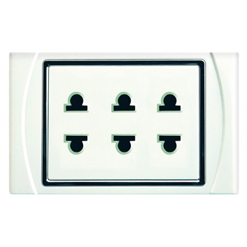 Triple Two Pin Socket (Triple Two Pin Socket)