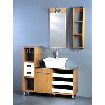 Solid Wood Bathroom Cabinet (Твердое дерево ванная кабинет)