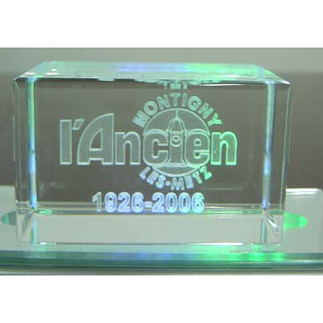 Laser Etched Crystal Ornament ( Laser Etched Crystal Ornament)