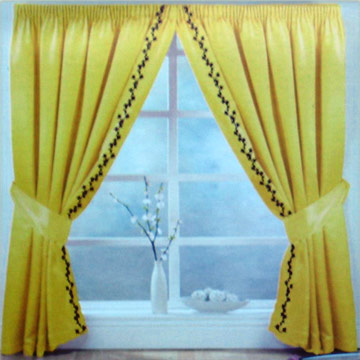 Embroidered Satin Curtain