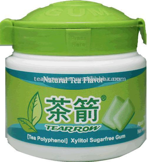 Green Tea Sugarless Chewing Gum (Зеленый чай Sugarless Жевательная резинка)