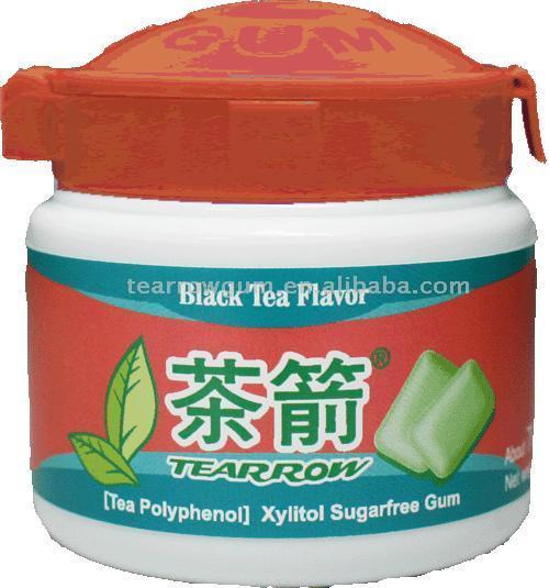 Black Tea Sugarless Chewing Gum (Черный чай Sugarless Жевательная резинка)