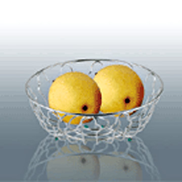 Plated Decorative Fruit Basket