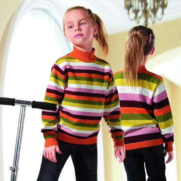 Kids` Colorful Stripe Sweater