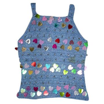 Kids` Hand Crochet Strap Vest