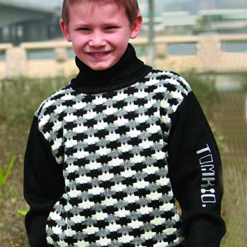 Kids` Brocade Sweater