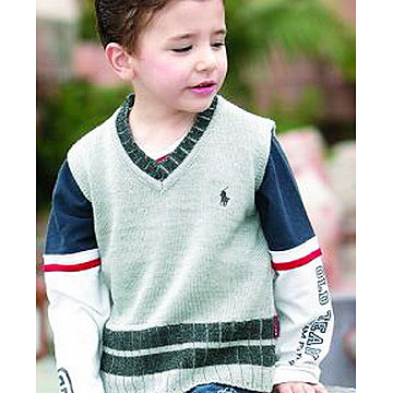 Kids` Sleeveless Sweaters