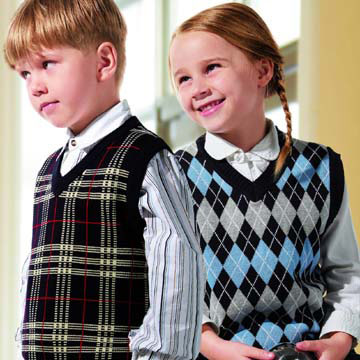 Kids` V-Neck Vests