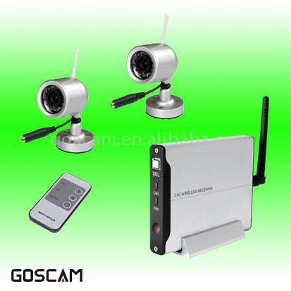 2.4GHz 1 Plus 2 Wireless Camera Kit (2.4GHz 1 плюс 2 комплекта беспроводных камер)
