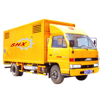 Mobile Generator Mounted on Vehicle (Mobile Generator an der Fahrzeugachse montiert)