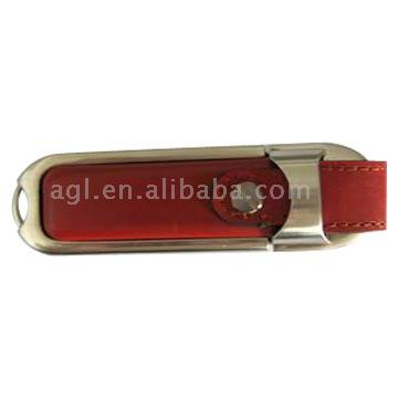 Leather 8.0GB USB 2.0 Flash Drive (Кожа 8.0GB USB 2.0 Flash Drive)