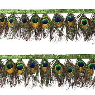 Feather Trimming with Satin Ribbon Tape (Перу обрезка с атласной лентой Tape)