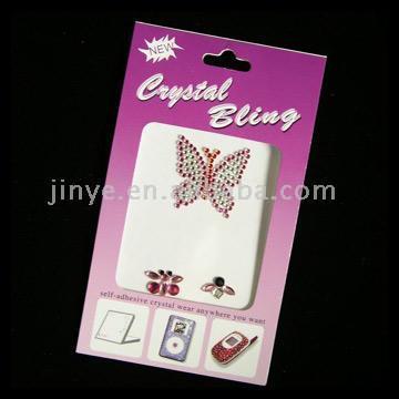 Mobile Phone Crystal Stickers (Butterfly) (Мобильный телефон Crystal Наклейки (бабочка))