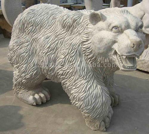 Stone Carving (Bear) (Резьба по камню (медведь))