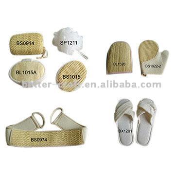 Loofah Sponge, Glove and Belt Scruber (Люфой губки, перчатки и пояса Scruber)