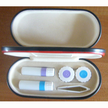 Dual compartment holder for eyeglasses and contact lens case
