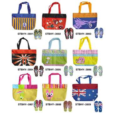 Beach Bags with Slippers (Пляжные сумки, тапочки)
