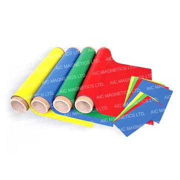 PVC Laminated Flexible Magnetic Sheeting (Roll) (ПВХ ламинированные Гибкий магнитный брезента (Roll))