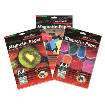 Inkjet Printable Magnetic Glossy Paper (Струйной печати, глянцевая бумага Магнитные)