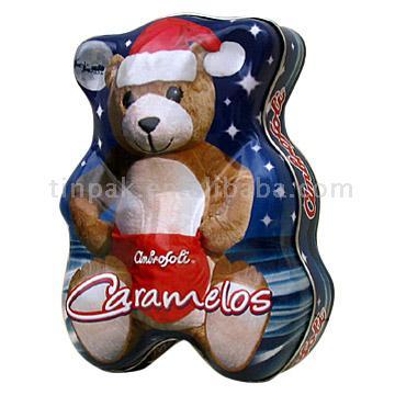 Bear Shaped Tin Box (Bear Тина Shaped Box)