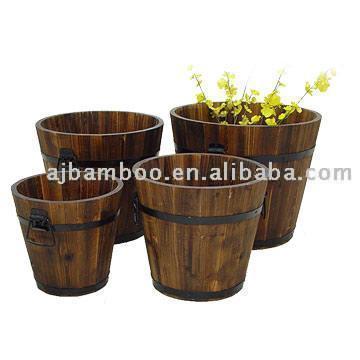 Wooden Flower Pot (Деревянный Горшок)