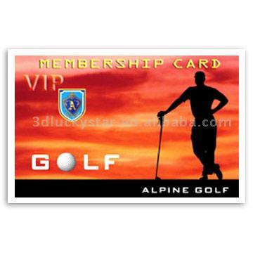 3D/2D Lenticular Member Card (3D/2D чечевичным карты члена)