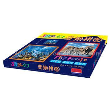 2D/3D Lenticular Puzzle (2D/3D чечевичным головоломка)