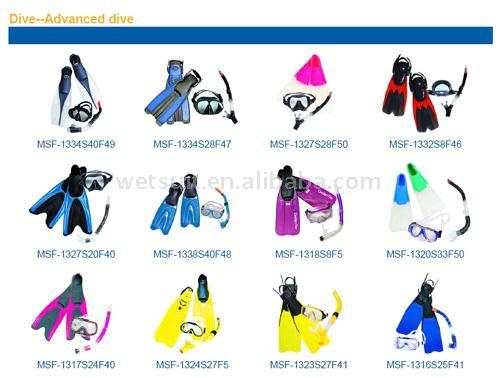 Snorkelling and Scuba Diving Mask, Fin and Snorkel Combo (С маской и трубкой и подводного плавания Маска, Финляндии и трубку Combo)
