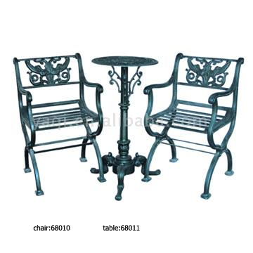 Cast Iron Chairs & Table