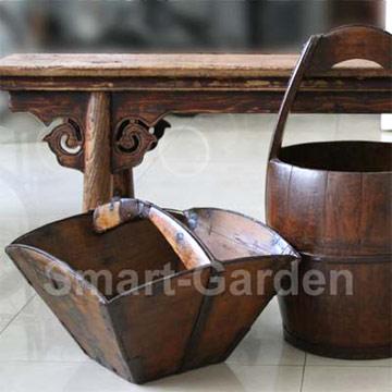 Antique Furniture, Basket And Barrel
