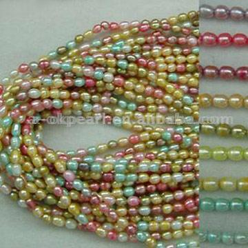 Multicolor Rice Pearl Strands & Necklaces (Multicolor Pearl Strands Rice & Necklaces)