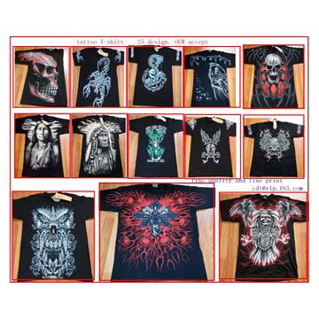 Tattoo Pattern T-Shirts ( Tattoo Pattern T-Shirts)